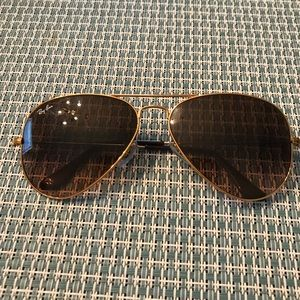 Ray-ban Aviator unisex gold , w/ brown/oran lens